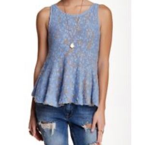Size small free people knitted flare tank